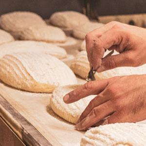 Photo de l'étale d'une boulangerie
